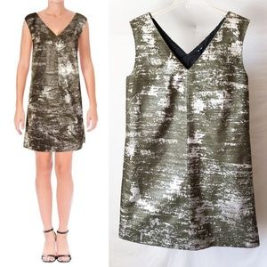 NWT Jil Sander Navy Metallic Cocktail Dress